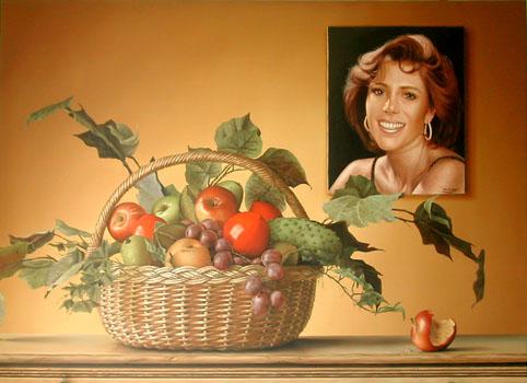 Frutas, Retrato y una gota