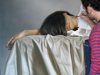 pintando tela al desnudo