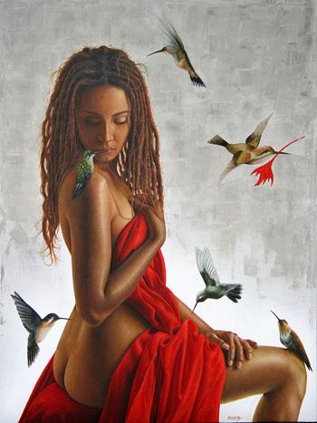 colibries atraidos por el rojo (90x120)