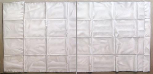 Cuadricula Blanca diptico 110 x 220 cm