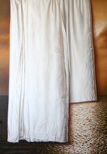 tela blanca sobre un atardecer 190 x 150 cm