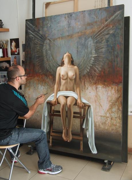 Angel 180 x 140 pintor 2