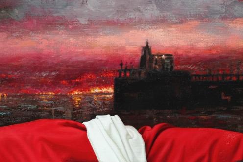 Cielo Rojo 140 x 180 detalle 03