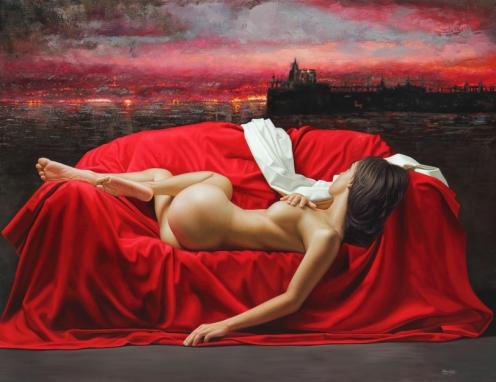 Cielo Rojo 140 x 180