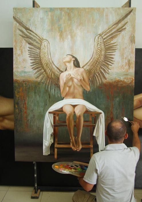 Angel II 180 x 140 pintor 1