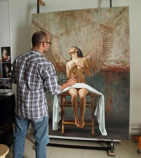 Angel II 180 x 140 pintor 2