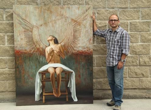 Angel II 180 x 140 pintor 3