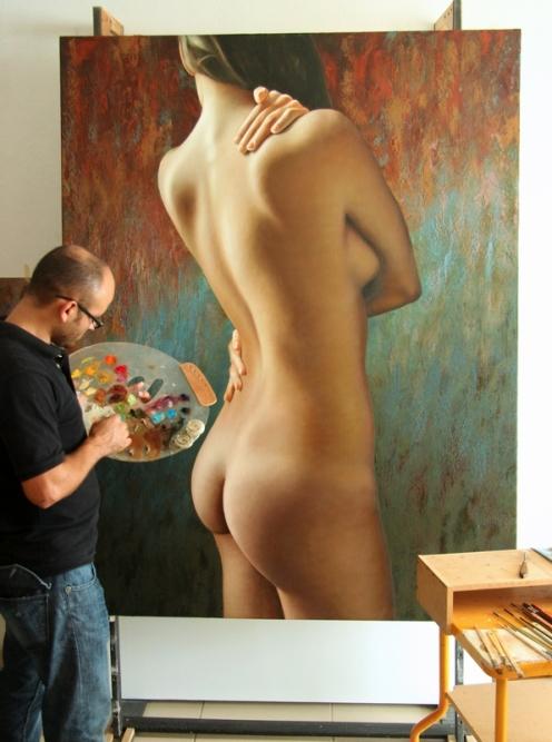 el autoabrazo 180 x 140 pintor 2