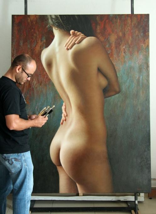 el autoabrazo 180 x 140 pintor 3