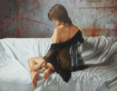 el arte de la seduccion oleo sobre lino 140 x 180