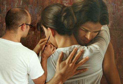 el abrazo 180 x 140 pintor 03