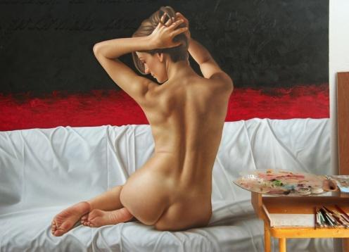 Ascetismo del siglo XXI pintor 03