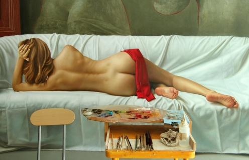 la venus de milo 140 x 180 pintando 03