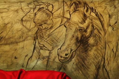 los caballos de Da Vinci 140 x 180 detalle 04