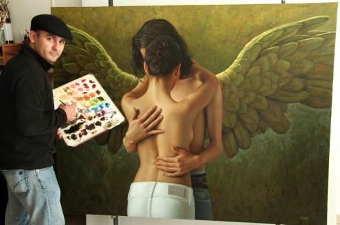 el caballero alado 140 x 180 pintor 02