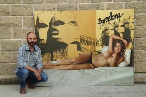 Barcelona 140 x 180 pintor 01