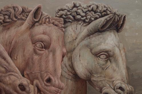 Dialogo de tres equinos 140 x 180 detalle 04