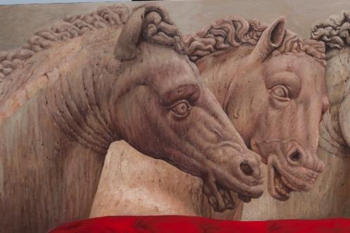Dialogo de tres equinos 140 x 180 detalle 05