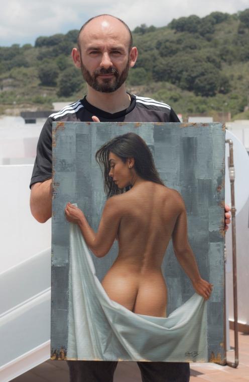 Entre Grises 69 x 50 pintor 01