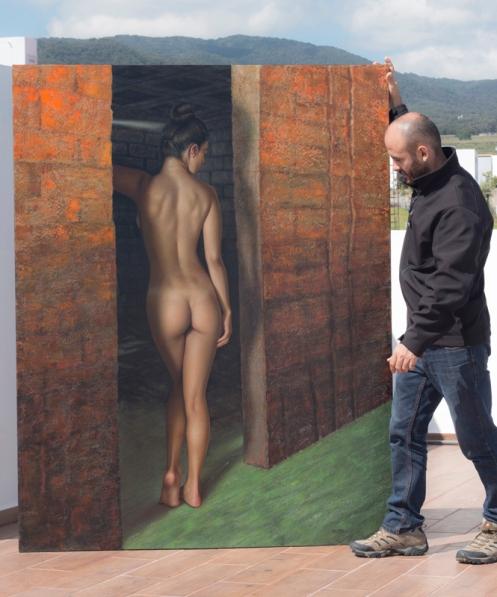 Hoyuelos de Venus 140 x 180 pintor 01