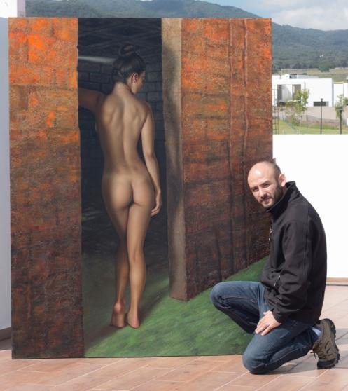 Hoyuelos de Venus 140 x 180 pintor 02