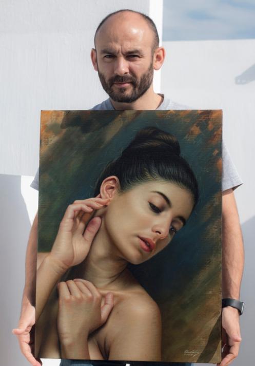 La sensibilidad en la oreja 66 x 48 pintor 01