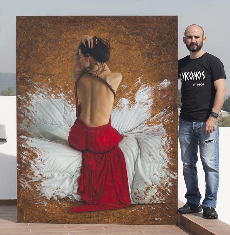 Corazon Escarlata 180 x 140 pintor 01