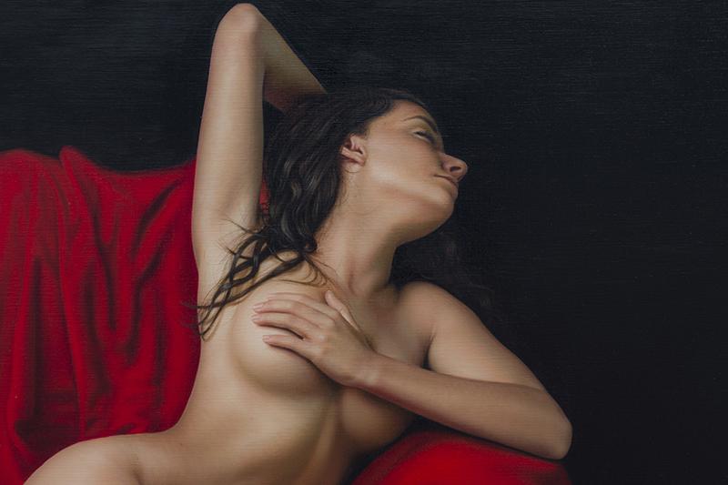 El Drapeado Rojo Carmesí 140 x180 detalle 01
