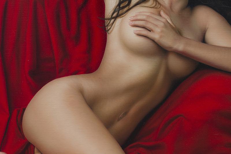 El Drapeado Rojo Carmesí 140 x180 detalle 02
