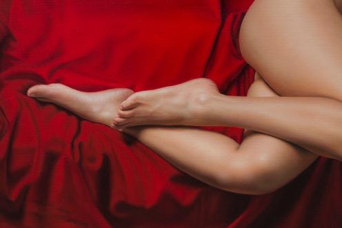 El Drapeado Rojo Carmesí 140 x180 detalle 03