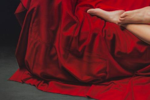 El Drapeado Rojo Carmesí 140 x180 detalle 05