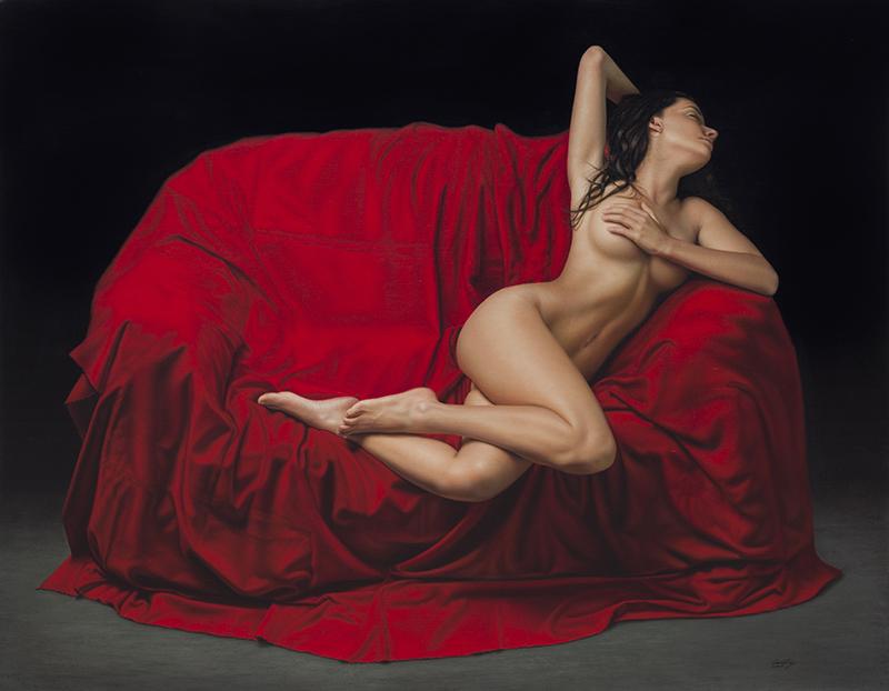 El Drapeado Rojo Carmesí 140 x180