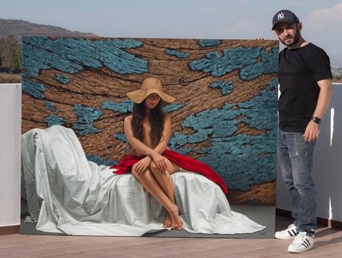 el sombrero de mimbre 140 x 180 pintor 01