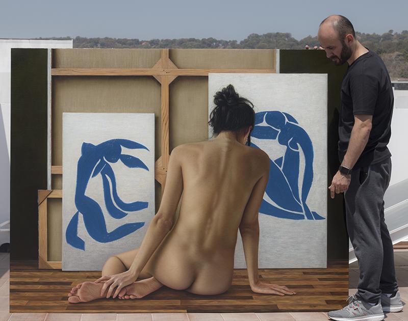 entre bastidores de Matisse 140 x 180 pintor 01